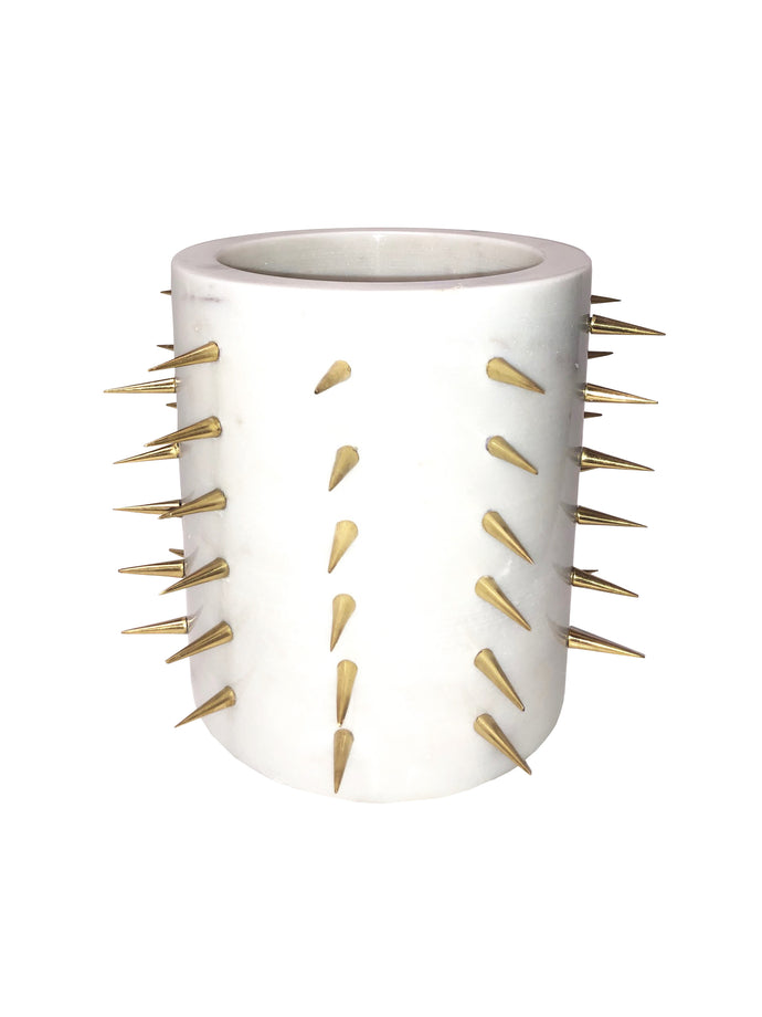 Pantalet Gold Spike Vase White Large