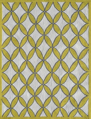 Diamonds Yellow Area Rug