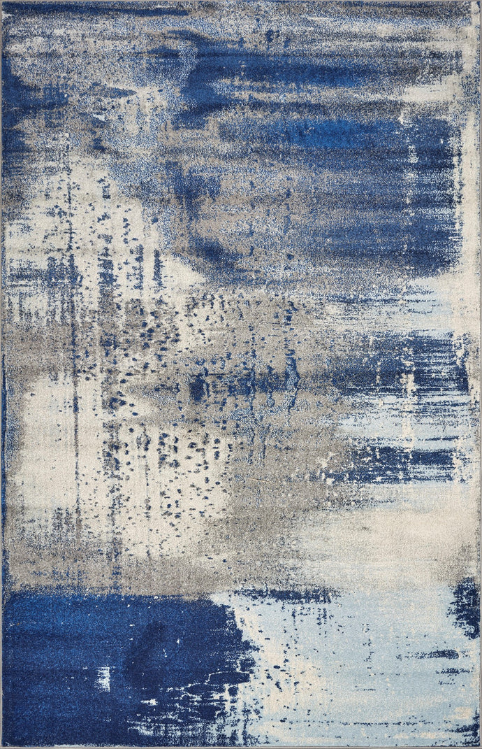 Flow Ice Blue Area Rug