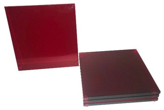 Lucite Red Coaster ( set of 4pcs)