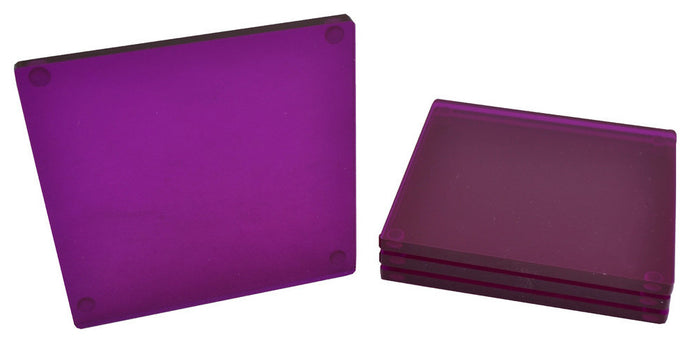 Lucite Purple Coaster ( Set of 4pcs)