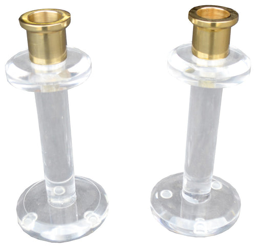Lucite Candle Sticks