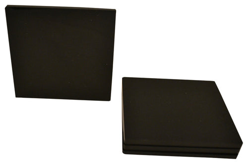 Lucite Black Coaster ( Set of 4pcs)