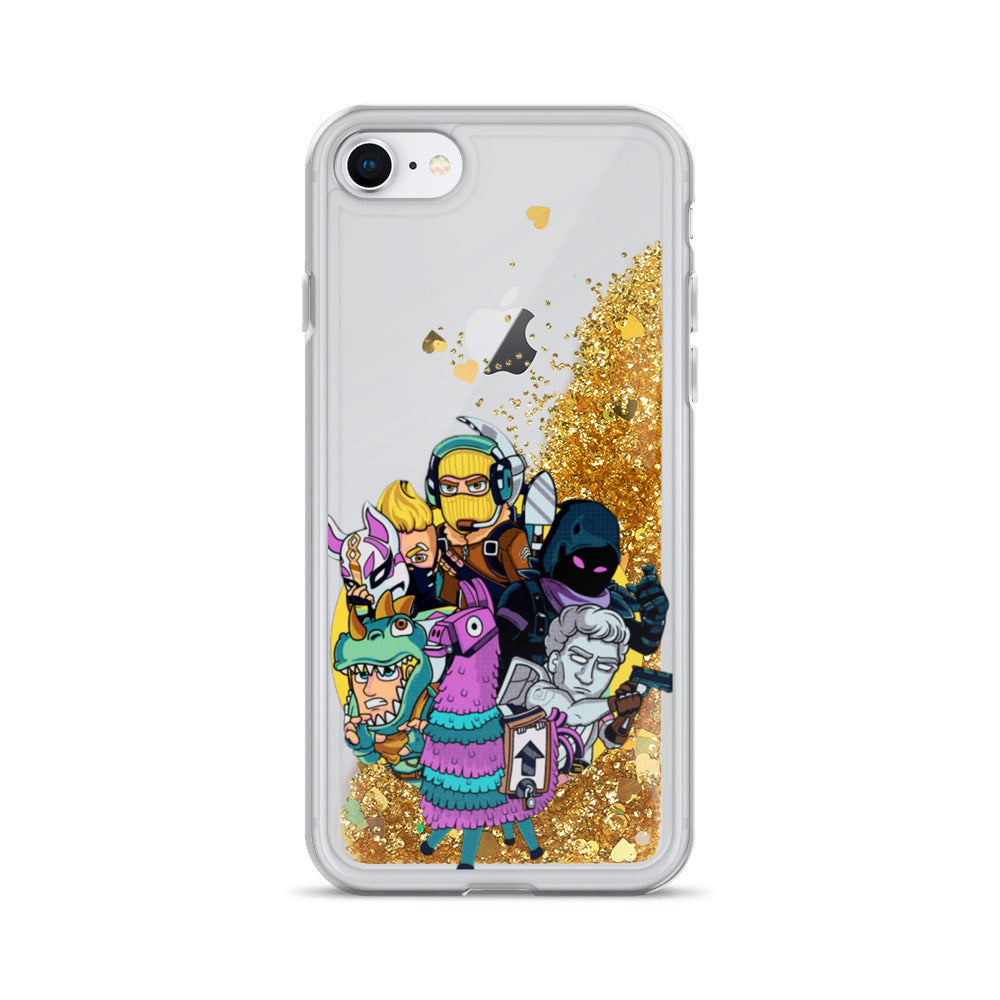 Fortnite Squad Liquid Glitter iPhone Case