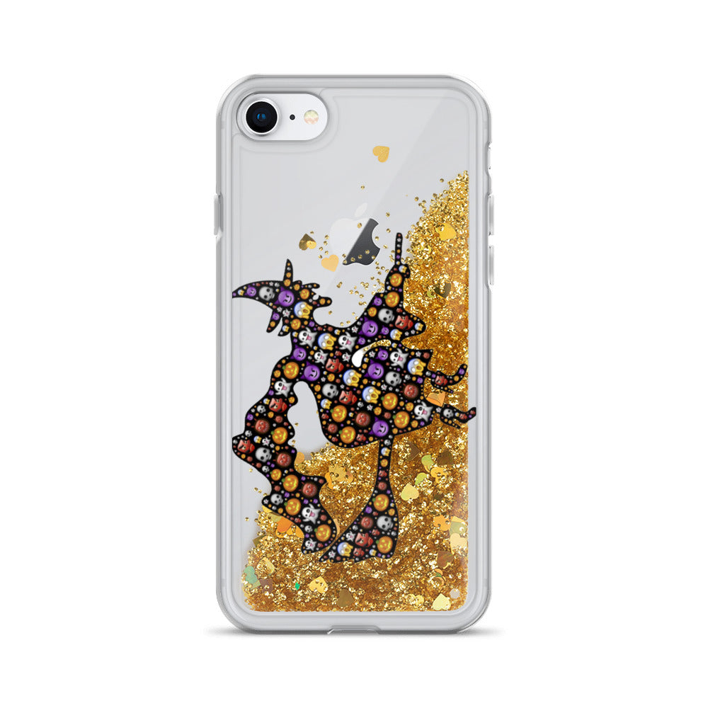Emoji Witch Halloween Liquid Glitter iPhone 7 / 8 Case