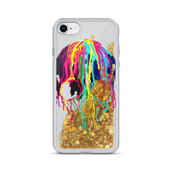 Colorful Skull Liquid Glitter iPhone 7 / 8 Case