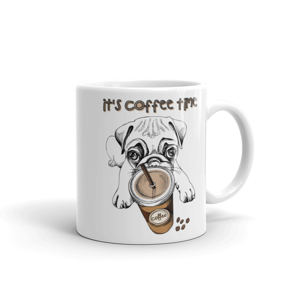 It's coffee time pug mug