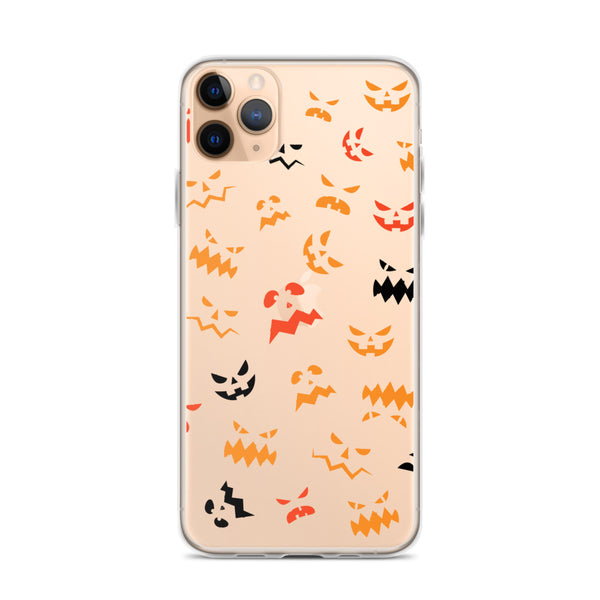 Pumpkin Faces Pattern iPhone 11 Case & older