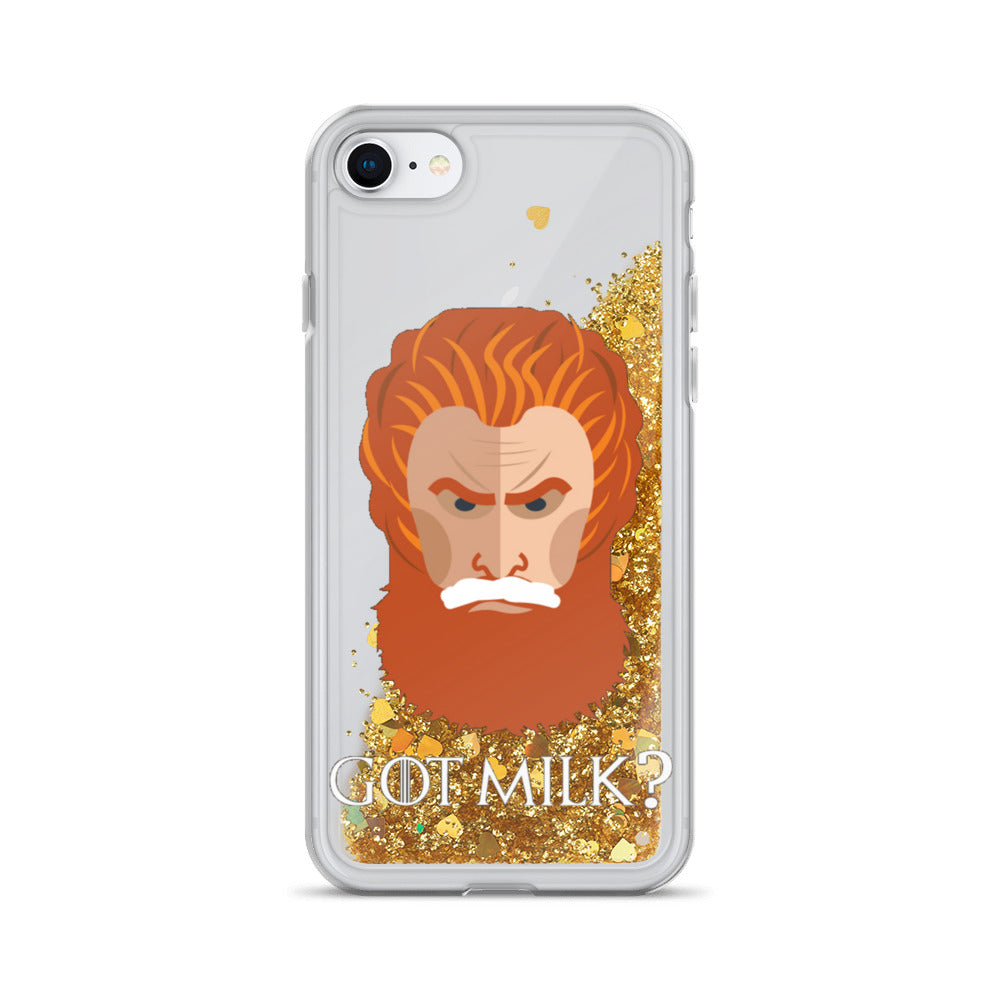 Got Milk? Game of Thrones Liquid Glitter iPhone Case