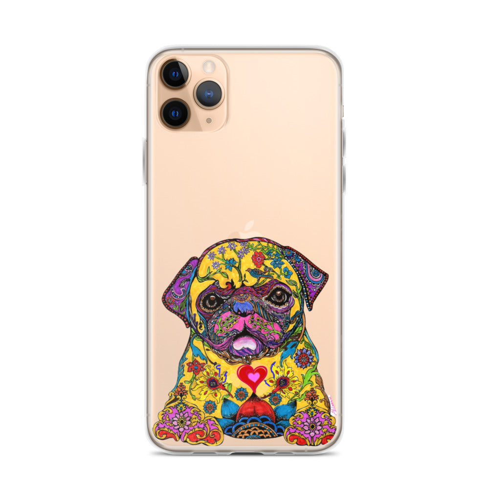 Psychedelic Pug iPhone 11 Case & older