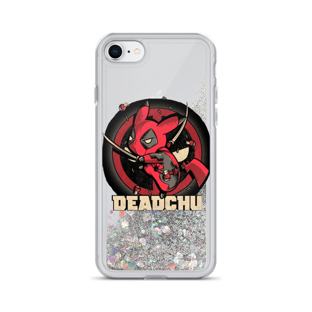 Deadchu Liquid Glitter Pikachu + Deadpool iPhone 7 / 8 Case