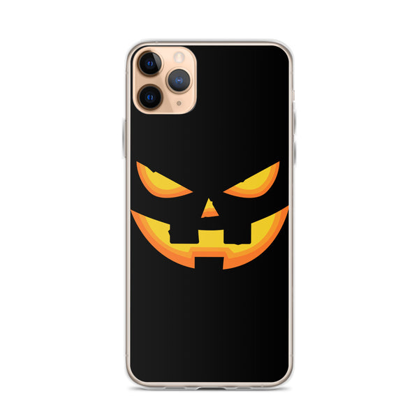 Pumpkin Face iPhone 11 Case & older