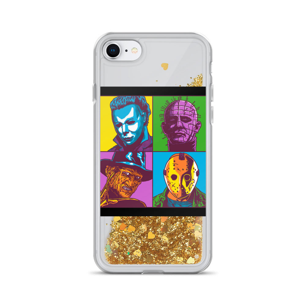 Halloween Massacre Liquid Glitter iPhone Case