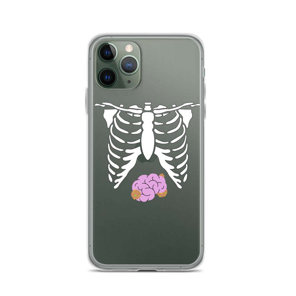 Skeleton Chest & Brains iPhone 11 Case & older