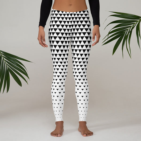 Triangle Leggings black and white