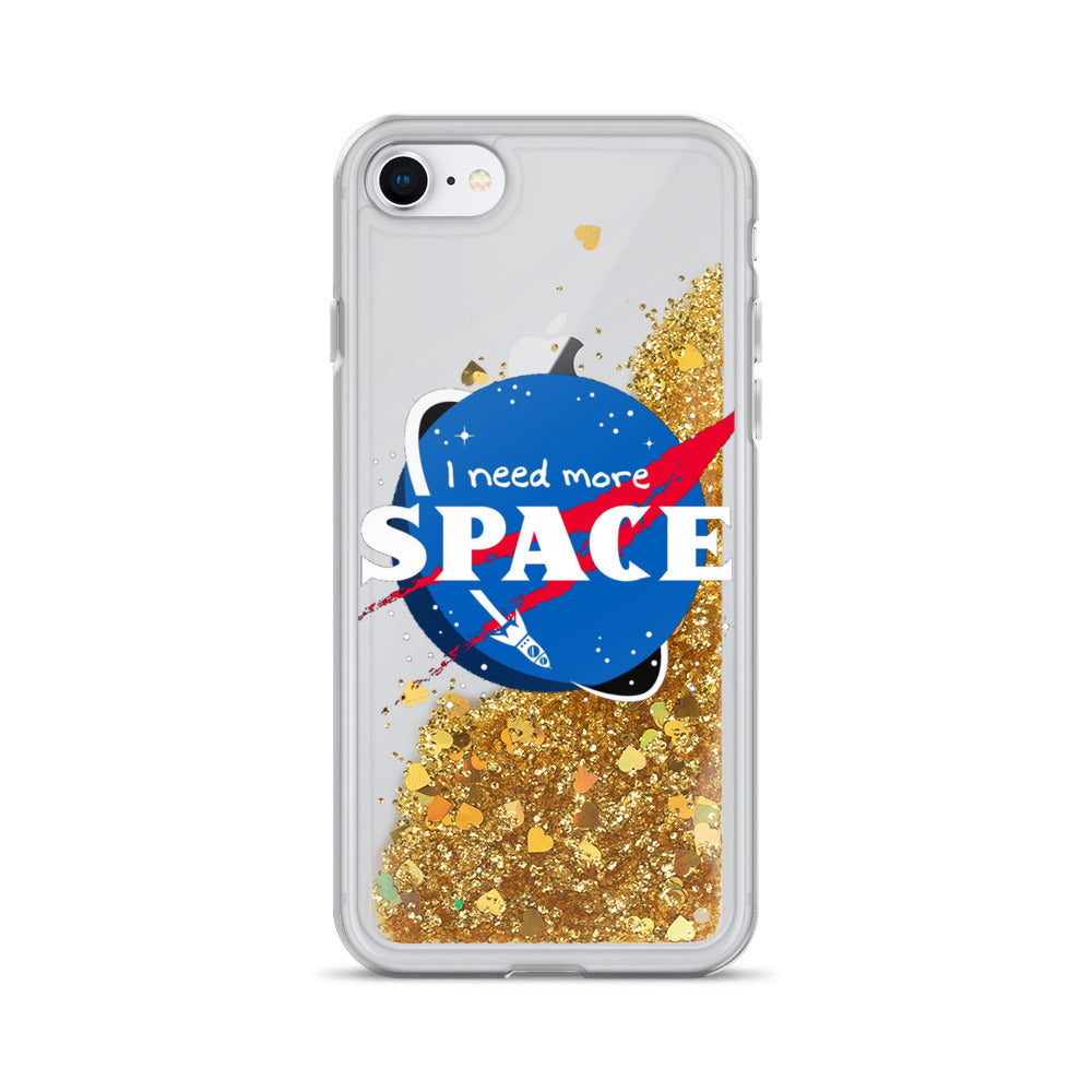 I need more Space Liquid Glitter Nasa iPhone Case