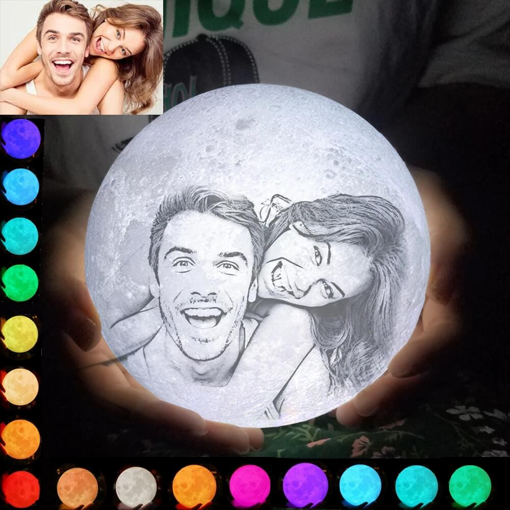 Personalized 3D Moon Lamp | 16 Colors