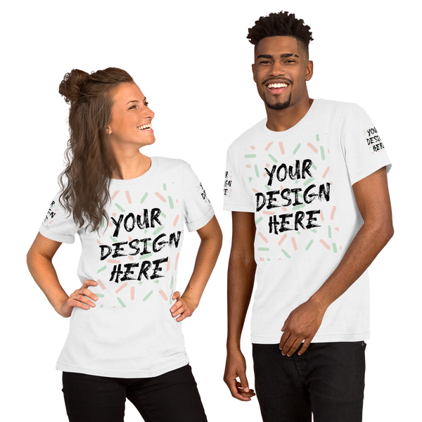 Personalized Unisex Shirt | Front, Back and Sleeve print