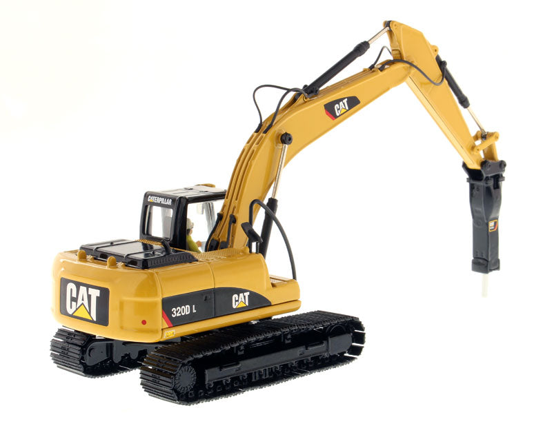 1:50 Cat® 320D L Hydraulic Excavator with Hammer