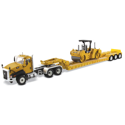 1:50 Cat® CT660 Day Cab Tractor & XL120 Low-Profile HDG Trailer with Cat® CB-534D XW Vibratory Asphalt Compactor