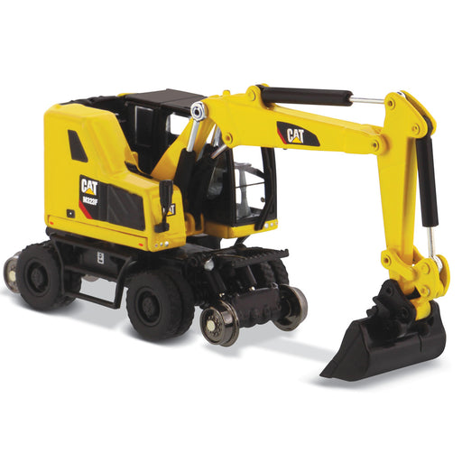 1:87 Cat M323F Railroad Wheeled Excavator, Safety Yellow Color