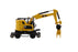 1:87 Cat® M323F Railroad Wheeled Excavator, Safety Yellow Color