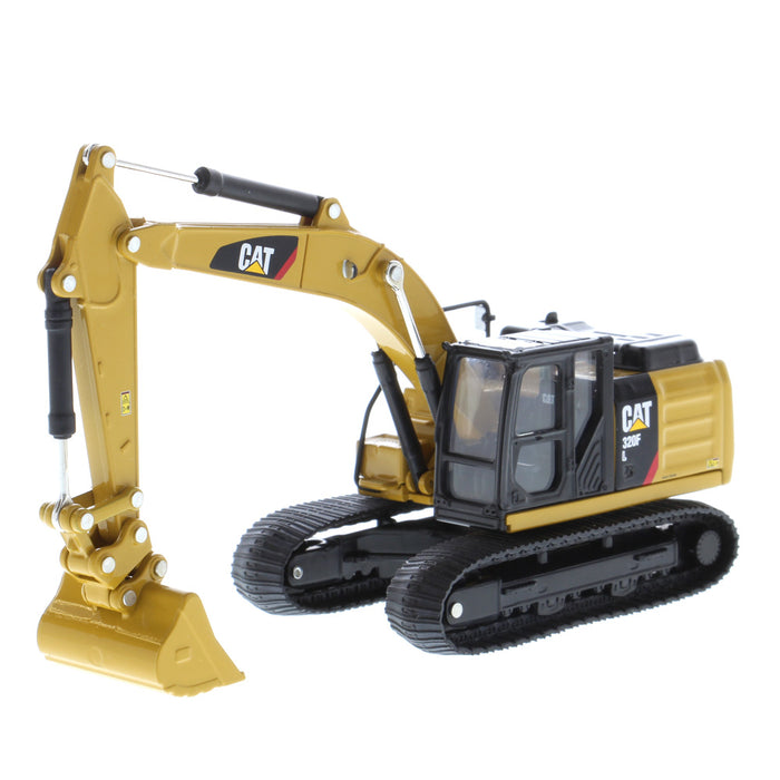 1:64 Cat 320F L Hydraulic Excavator with 5 New Work Tools