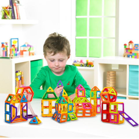 Magnetic Building Set Colorful Educational Magnetic Tiles Toys - New Toys Shop
