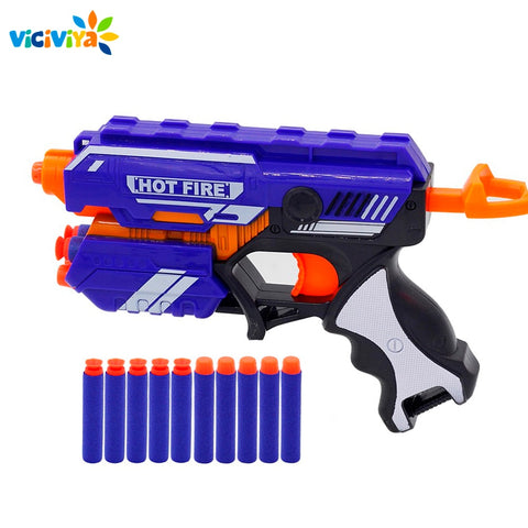 Gun Toy for NERF with Soft Bullet