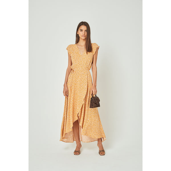 DEAN SIERRA WRAP DRESS - YELLOW