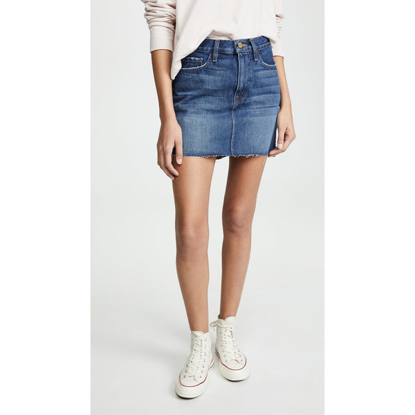 LE MINI SKIRT RAW STAGGER