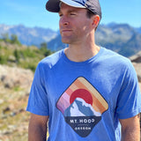Mount Hood Pacific Northwest - Triblend T-Shirt - Unisex (Blue & Maroon)