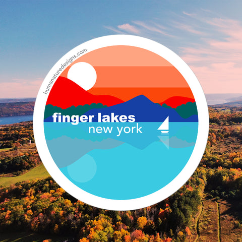 Finger Lakes New York - Vinyl Sticker & Decal