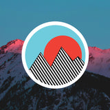Retro Mountain - Colorful Stripe Vinyl Sticker & Decal