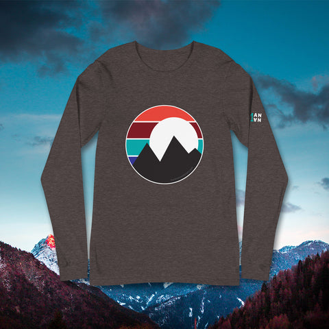 Retro Mountain T-Shirt - Long Sleeve - Unisex