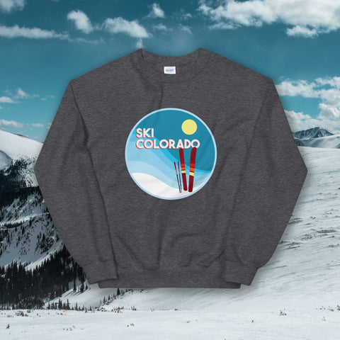 Ski Colorado Crew Neck Sweatshirt - Unisex