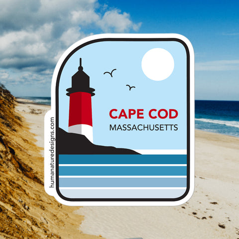 Cape Cod Massachusetts - Sticker & Decal