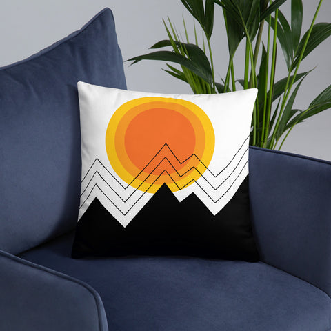 Aztec Mountain Sun - Accent/Throw Pillow - 18x18