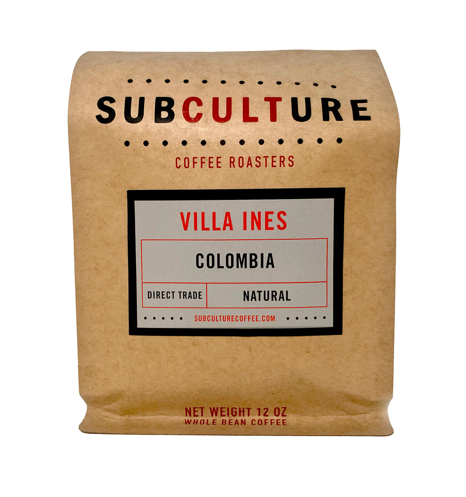 Villa Ines Colombia Medium Roasted Natural Whole Coffee Beans | Subculture Coffee Roasters - Single Origin Coffee