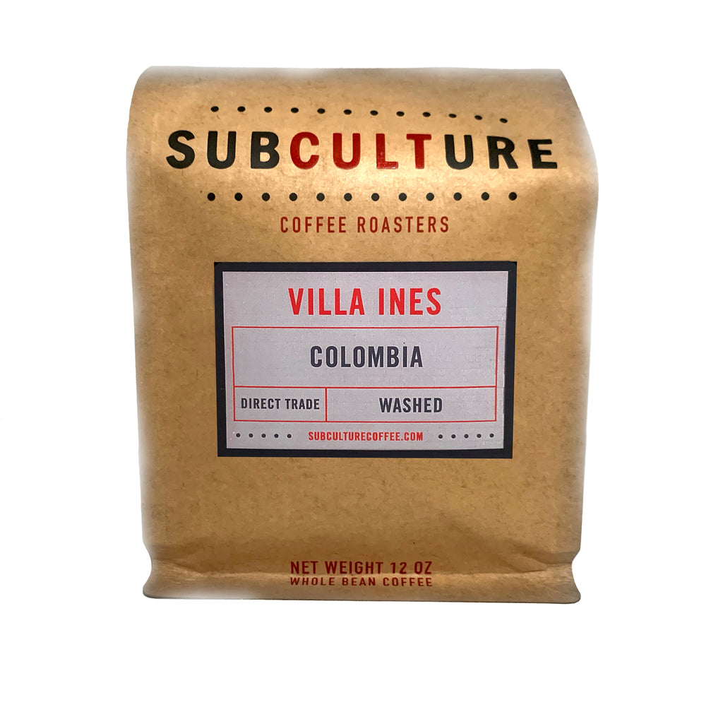 Villa Ines Colombia Medium Roasted Washed Whole Coffee Beans | Subculture Coffee Roasters - Single Origin Coffee