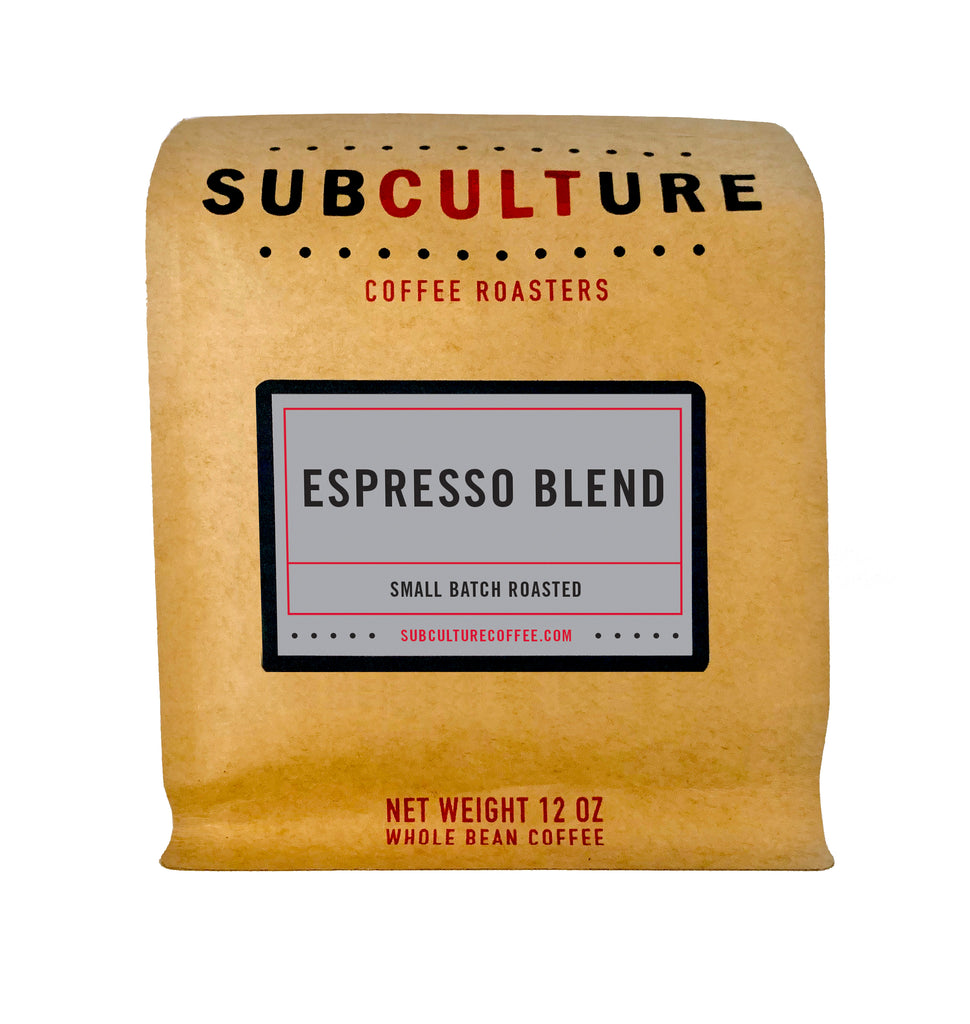Espresso Blend Light Roasted Whole Coffee Beans | Subculture Coffee Roasters - Microlot Ethiopia Brazil Coffee