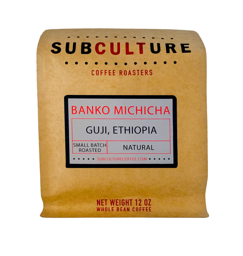Banko Michicha Ethiopia Light Roasted Natural Whole Coffee Beans | Subculture Coffee Roasters - Guji Ethiopia Single Origin Coffee