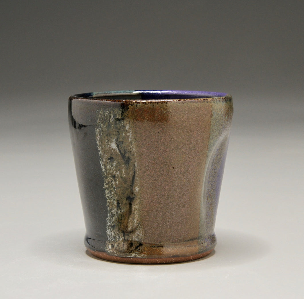 Dimpled Cup in Polychrome Glaze, 3.25