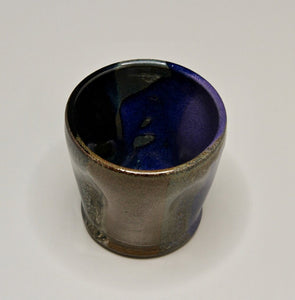 "Dimpled Cup in Polychrome Glaze, 3.25""h (Bryan Pulliam)"