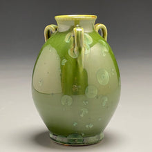 "Load image into Gallery viewer, Edo Jar in Lily Pad Green Crystalline, 6""h"