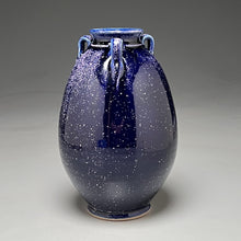 "Load image into Gallery viewer, Flower Vase #3 in Blue Ice, 7""h (Bryan Pulliam)"