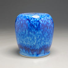 "Load image into Gallery viewer, Flower Vase #4 in Blue Ice, 6.5""h (Bryan Pulliam)"