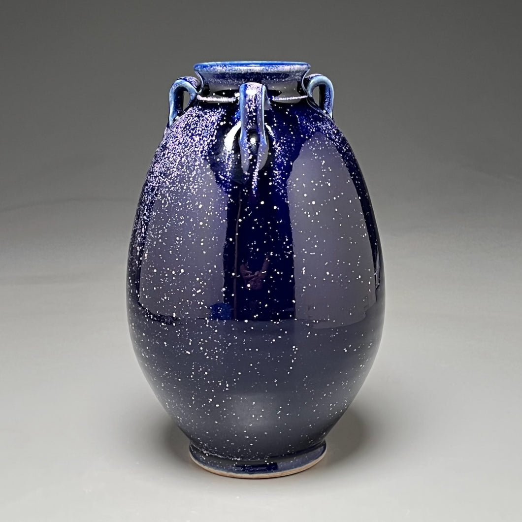 Flower Vase #3 in Blue Ice, 7