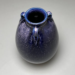 "Flower Vase #3 in Blue Ice, 7""h (Bryan Pulliam)"