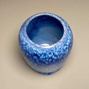 "Flower Vase #4 in Blue Ice, 6.5""h (Bryan Pulliam)"